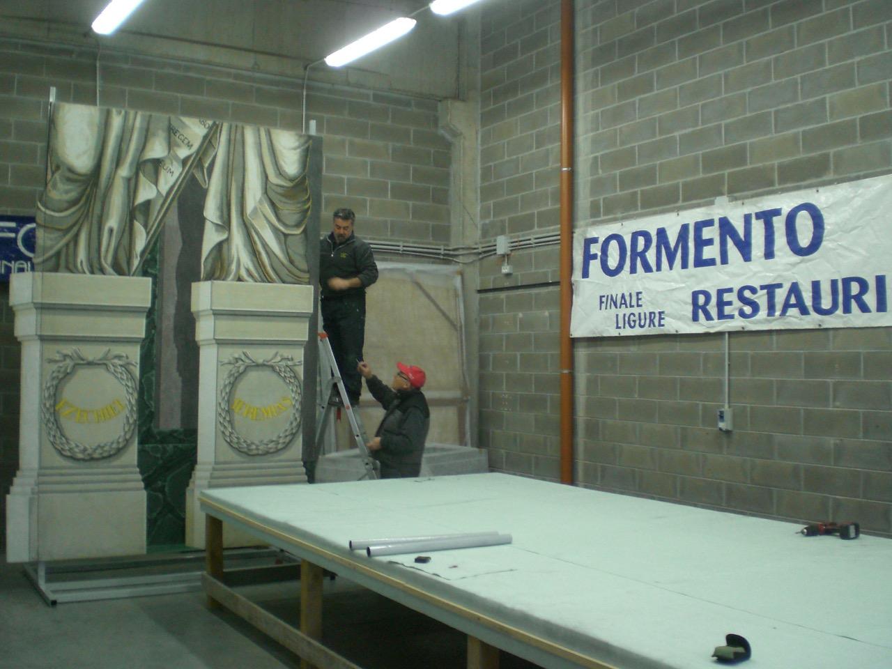 Lavorazioni nel laboratorio Formento a Finale Ligure