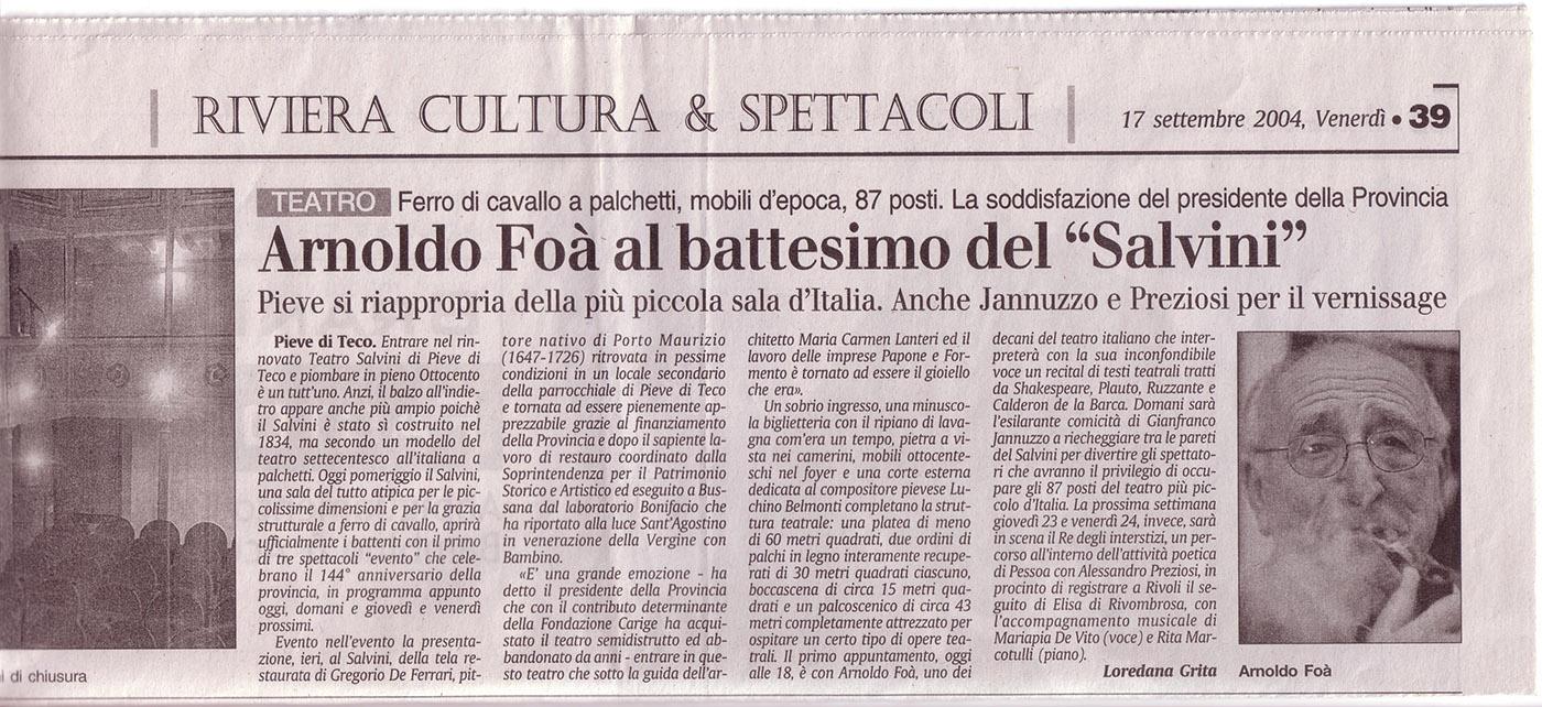 Il Secolo XIX, 17/9/2004