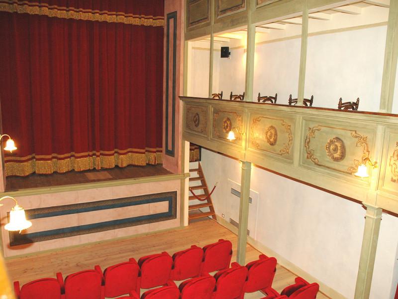 Il Teatro Salvini dopo l'intervento di restauro e ristrutturazione di Formento Restauri, ditta edile con sede a Finale Ligure, Savona.