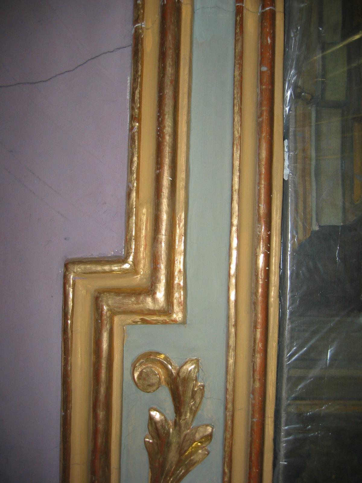 Particolare della cornice prima del restauro