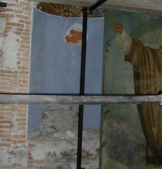 Ritrovamento della nicchia che ospitava la statua lignea di San Giuseppe