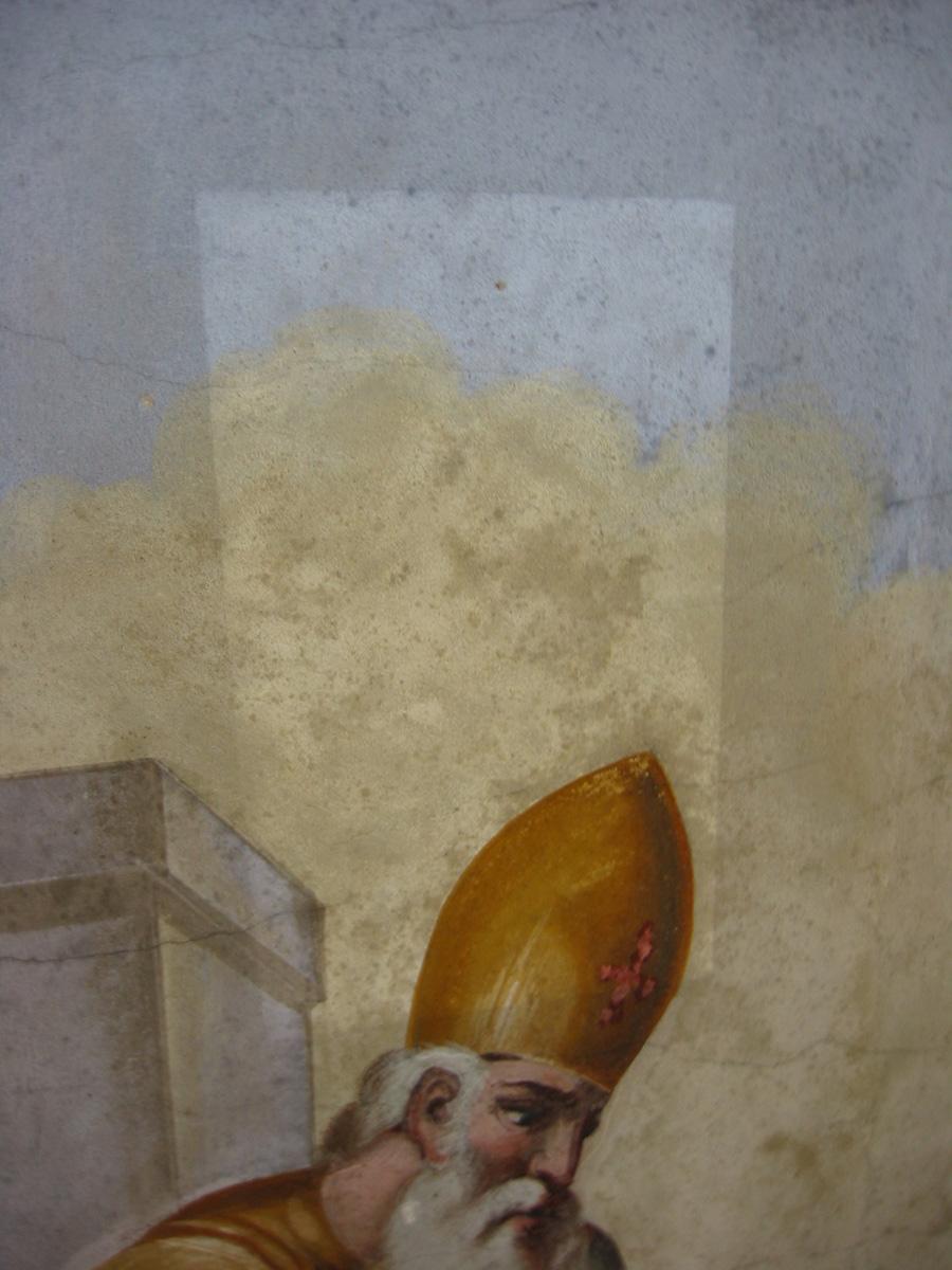 Tassello di pulitura eseguito con spugna wishab