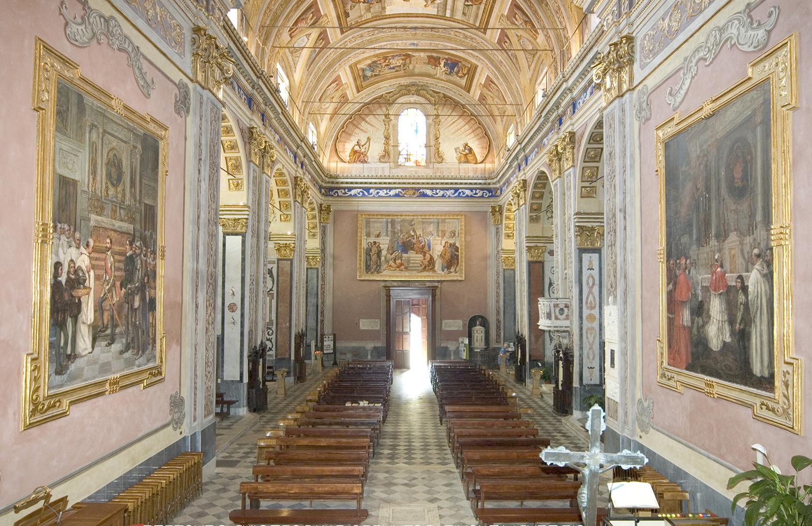 L'Abbazia Nostra Signora Assunta dopo l'opera di restauro di Formento Restauri, ditta edile di Finale Ligure, Savona.