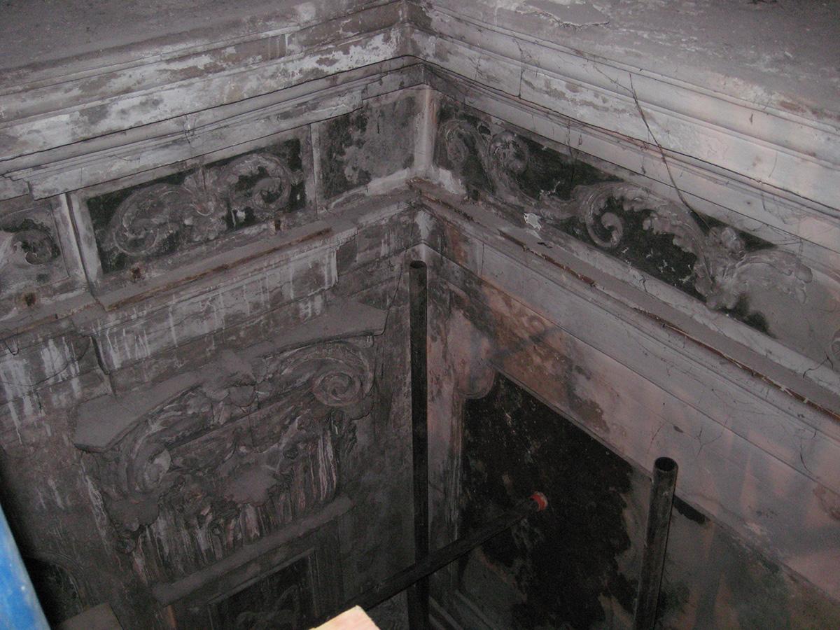 Degrado del cornicione e della parete