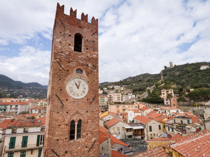 La Torre comunale di Noli dopo il restauro della ditta Formento Restauri di Finale Ligure, Savona.